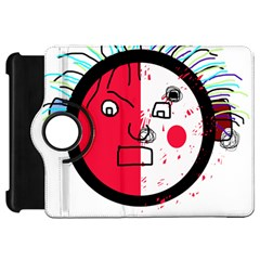 Angry transparent face Kindle Fire HD Flip 360 Case