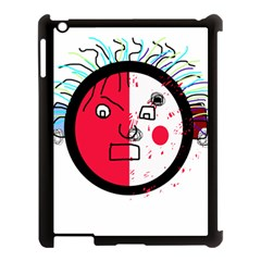 Angry transparent face Apple iPad 3/4 Case (Black)