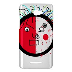 Angry transparent face HTC Butterfly X920E Hardshell Case