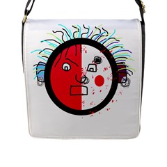Angry transparent face Flap Messenger Bag (L)