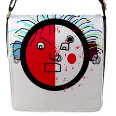 Angry transparent face Flap Messenger Bag (S)
