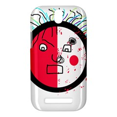 Angry transparent face HTC One SV Hardshell Case