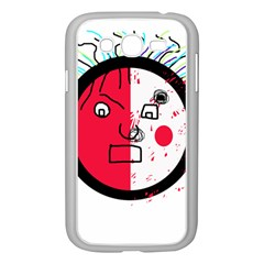 Angry transparent face Samsung Galaxy Grand DUOS I9082 Case (White)