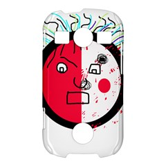 Angry transparent face Samsung Galaxy S7710 Xcover 2 Hardshell Case