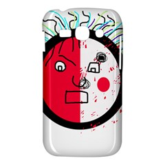 Angry transparent face Samsung Galaxy Ace 3 S7272 Hardshell Case