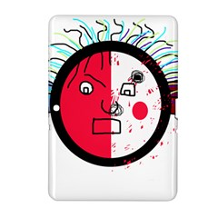 Angry transparent face Samsung Galaxy Tab 2 (10.1 ) P5100 Hardshell Case