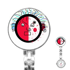 Angry transparent face Stainless Steel Nurses Watch