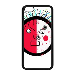 Angry transparent face Apple iPhone 5C Seamless Case (Black)