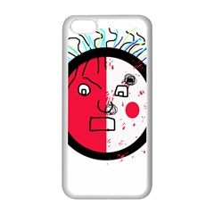 Angry transparent face Apple iPhone 5C Seamless Case (White)