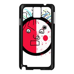 Angry transparent face Samsung Galaxy Note 3 N9005 Case (Black)