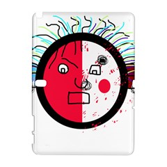 Angry transparent face Samsung Galaxy Note 10.1 (P600) Hardshell Case