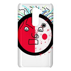 Angry transparent face LG G2