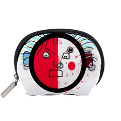 Angry transparent face Accessory Pouches (Small)