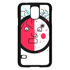 Angry transparent face Samsung Galaxy S5 Case (Black)