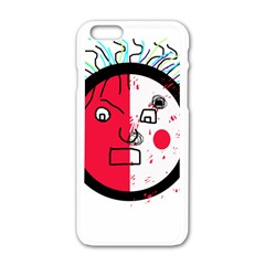 Angry transparent face Apple iPhone 6/6S White Enamel Case