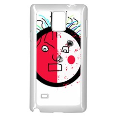 Angry transparent face Samsung Galaxy Note 4 Case (White)