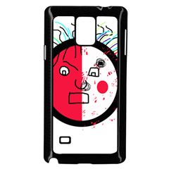 Angry transparent face Samsung Galaxy Note 4 Case (Black)