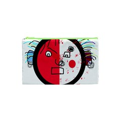 Angry transparent face Cosmetic Bag (XS)