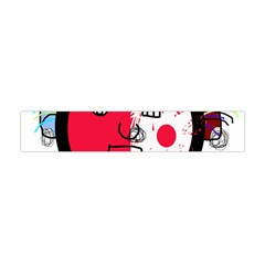 Angry Transparent Face Flano Scarf (mini)