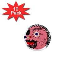 Abstract face 1  Mini Magnet (10 pack)