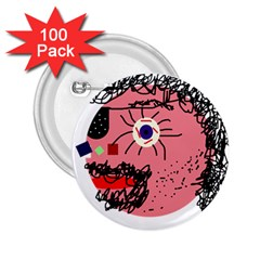 Abstract face 2.25  Buttons (100 pack)