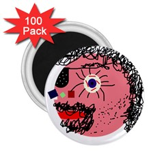 Abstract face 2.25  Magnets (100 pack)