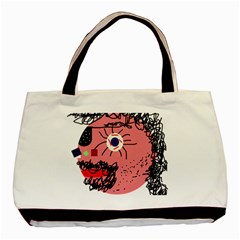 Abstract face Basic Tote Bag (Two Sides)
