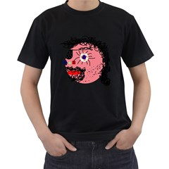 Abstract face Men s T-Shirt (Black)