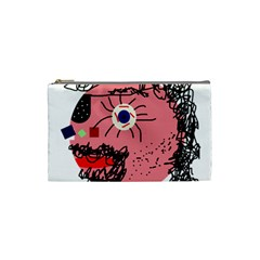 Abstract face Cosmetic Bag (Small)