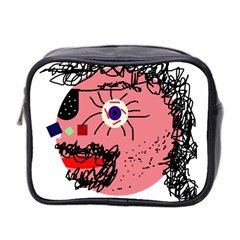 Abstract face Mini Toiletries Bag 2-Side