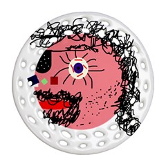 Abstract face Round Filigree Ornament (2Side)