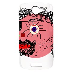 Abstract face HTC One S Hardshell Case