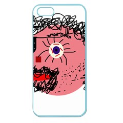 Abstract face Apple Seamless iPhone 5 Case (Color)