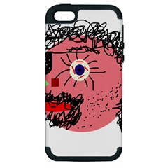 Abstract face Apple iPhone 5 Hardshell Case (PC+Silicone)