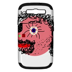 Abstract face Samsung Galaxy S III Hardshell Case (PC+Silicone)