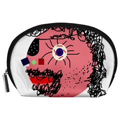 Abstract face Accessory Pouches (Large)