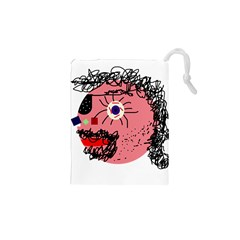 Abstract face Drawstring Pouches (XS)