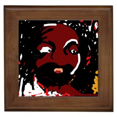 Abstract face  Framed Tiles