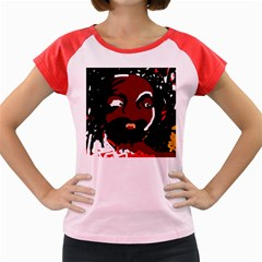 Abstract face  Women s Cap Sleeve T-Shirt