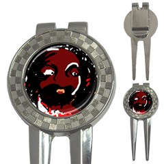 Abstract face  3-in-1 Golf Divots