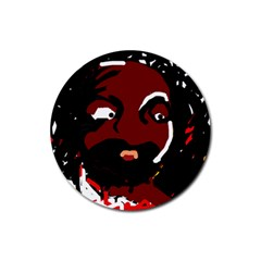 Abstract face  Rubber Coaster (Round)