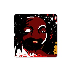 Abstract face  Square Magnet