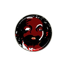 Abstract face  Hat Clip Ball Marker (4 pack)