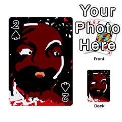 Abstract face  Playing Cards 54 Designs
