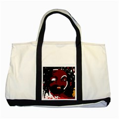 Abstract face  Two Tone Tote Bag