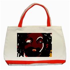 Abstract face  Classic Tote Bag (Red)