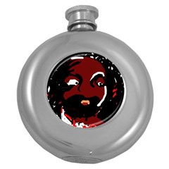 Abstract face  Round Hip Flask (5 oz)