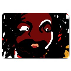 Abstract face  Large Doormat