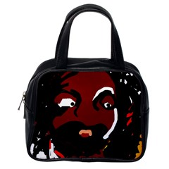 Abstract face  Classic Handbags (One Side)