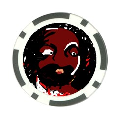 Abstract face  Poker Chip Card Guards (10 pack)